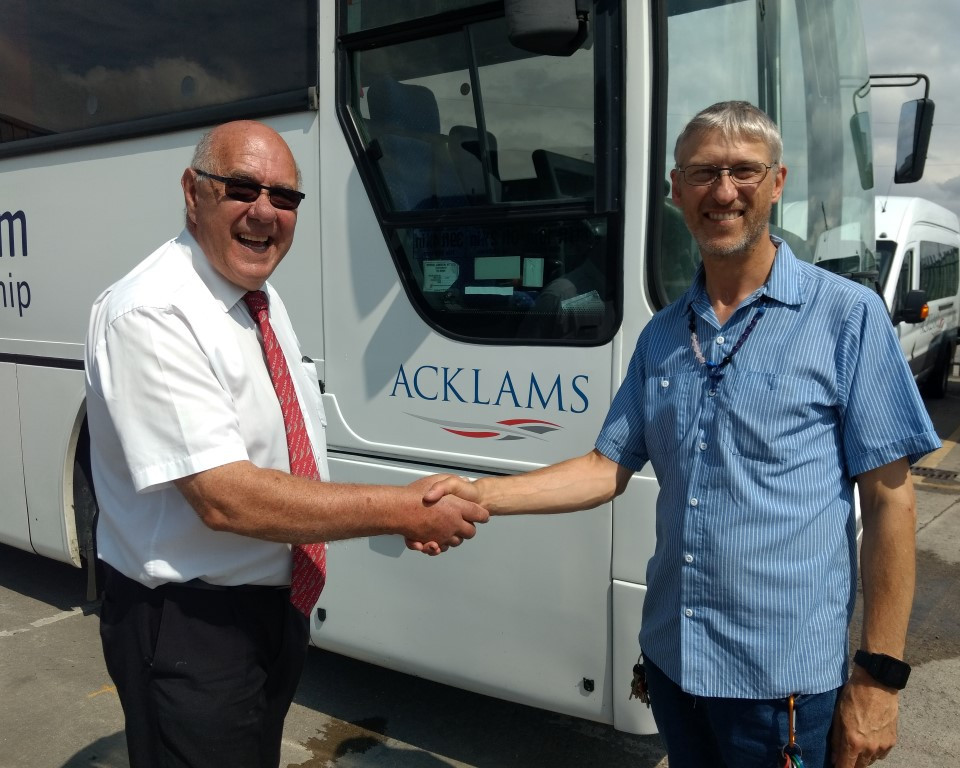 Acklams working with Jacobs Well to send donated Bus en route to Burkina Faso in West Africa